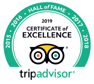 Recipient of TripAdvisor Certificate of Excellence Hall of Fame status
